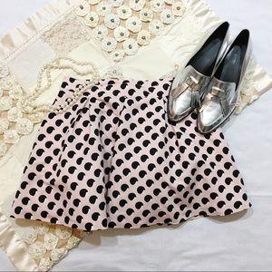 Forever 21 | NWT Pink Polka Dot Skater Skirt